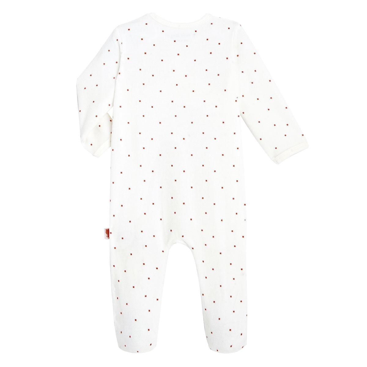Pyjama bébé velours mixte Forever dos