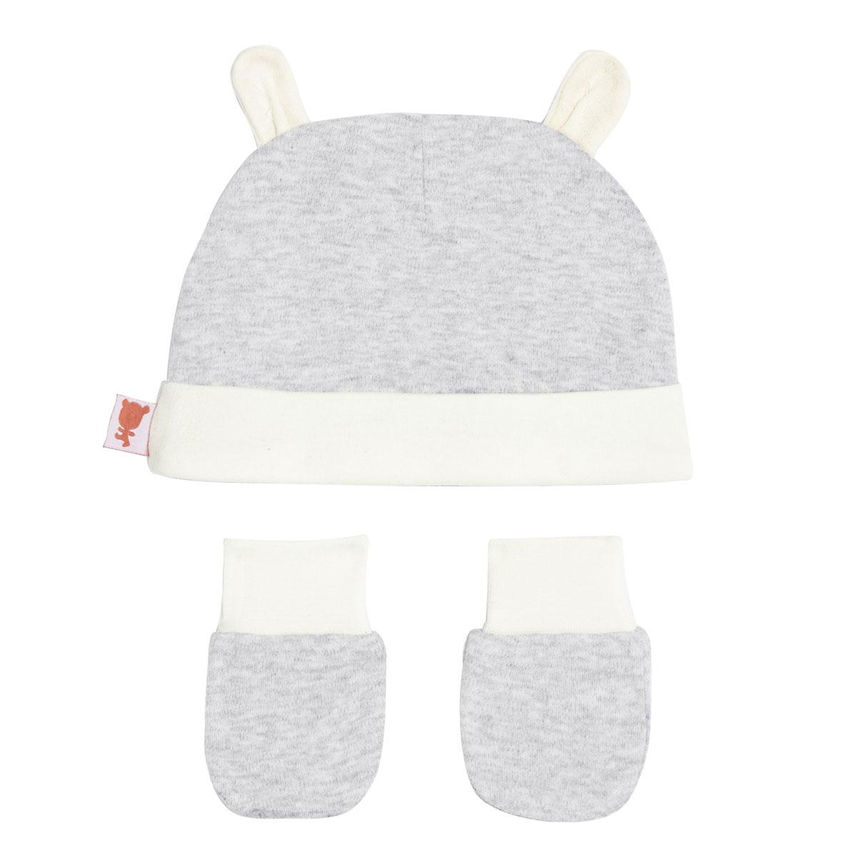 Bonnet + moufles anti-griffures bébé mixte Forever 0/3M dos