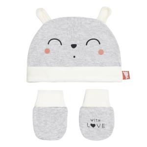 Bonnet + moufles anti-griffures bébé mixte Forever 0/3M