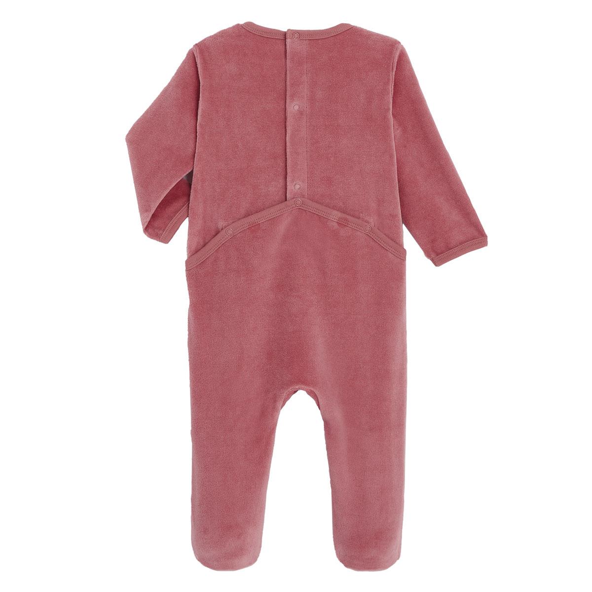 Pyjama bébé velours Zhao dos