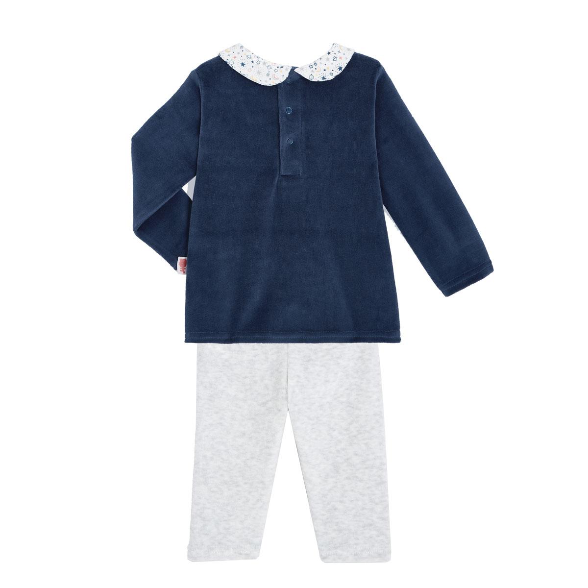Pyjama bébé velours 2 pièces Rêve Etoilé dos