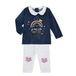 Pyjama bébé velours 2 pièces Rêve Etoilé