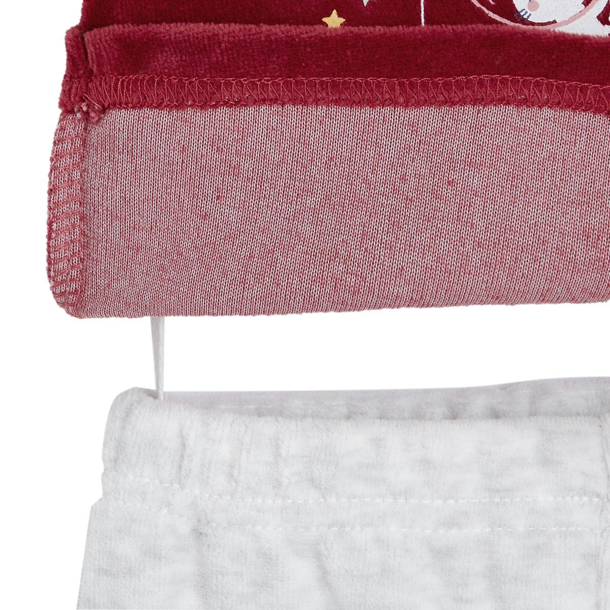 Pyjama bébé 2 pièces velours Mini Roi attache