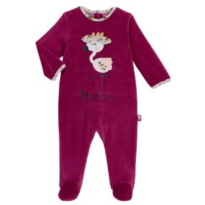 Pyjama bébé en velours contenant du coton bio Muchacha