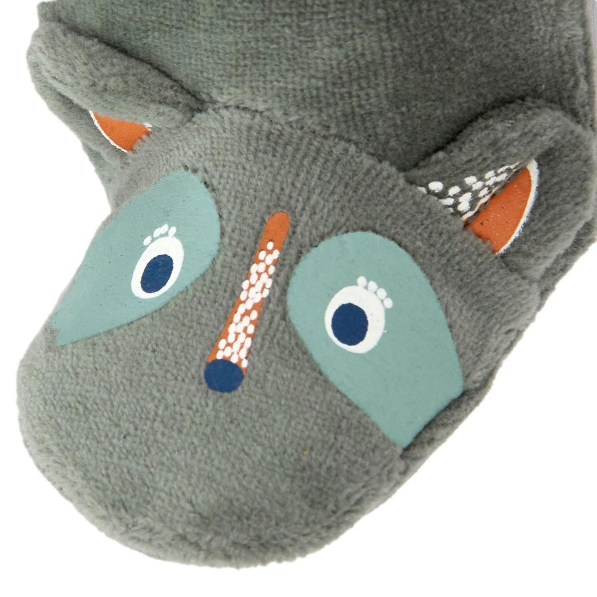 Pyjama bébé en velours contenant du coton bio Noisette pied
