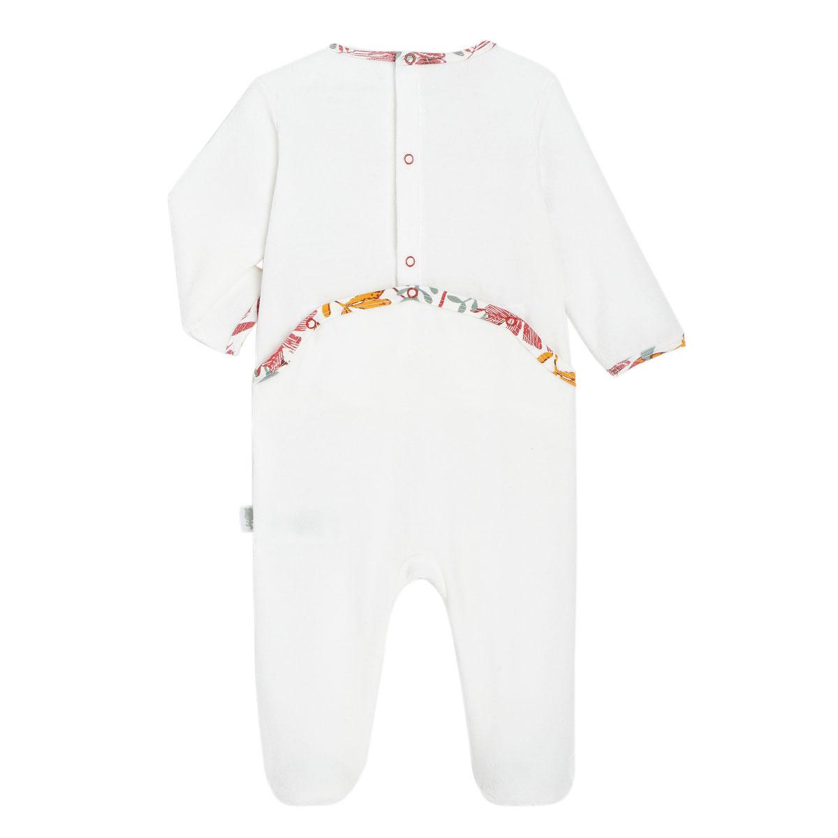 Pyjama bébé en velours contenant du coton bio BonjourAmour dos