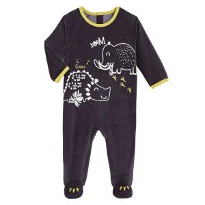Pyjama bébé en velours contenant du coton bio Marlon