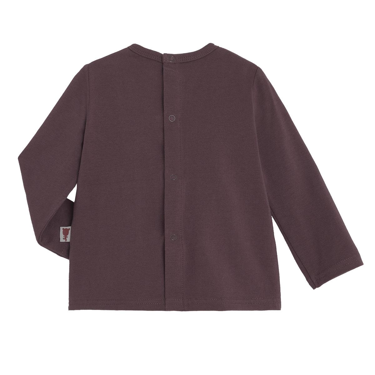T-shirt et salopette garçon contenant du coton gratté bio Loupfoque haut dos