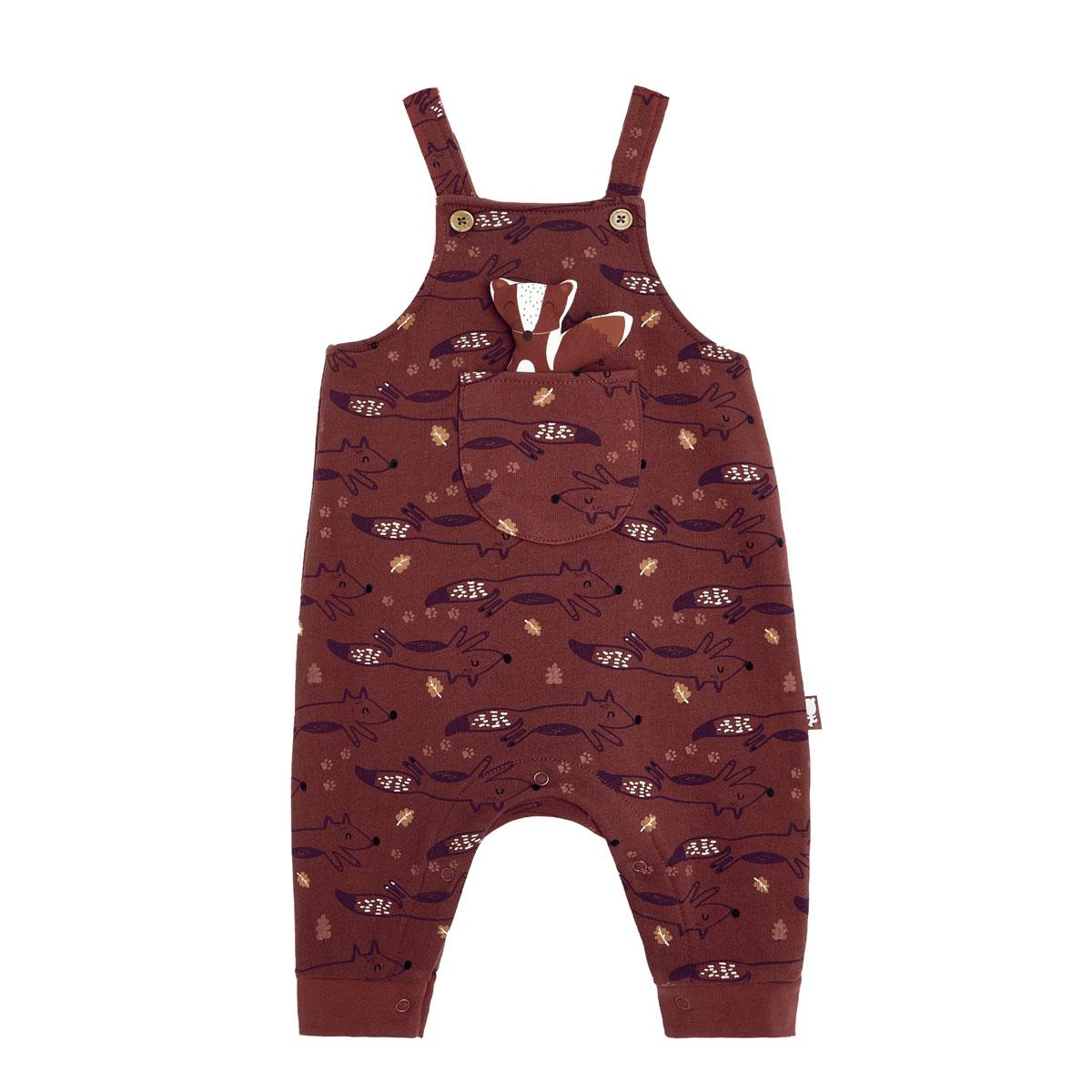 T-shirt et salopette garçon contenant du coton gratté bio Loupfoque