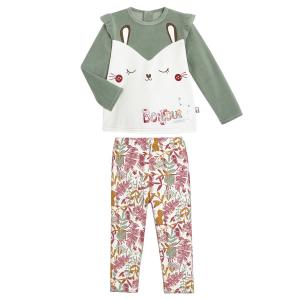 Pyjama fille manches longues Bonjour Amour