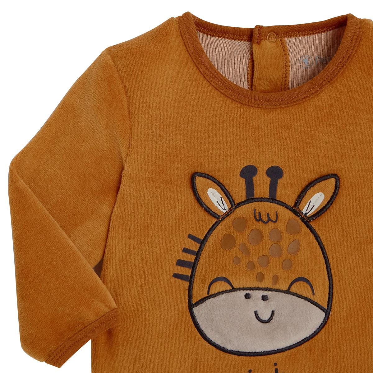 Pyjama bébé velours Baby Club zoom