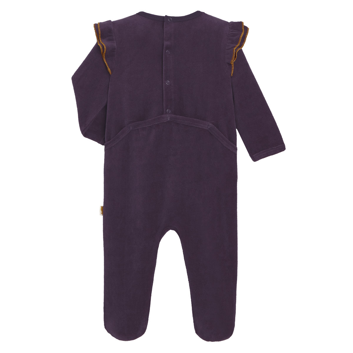 Pyjama bébé en velours contenant du coton bio Funky Safari dos