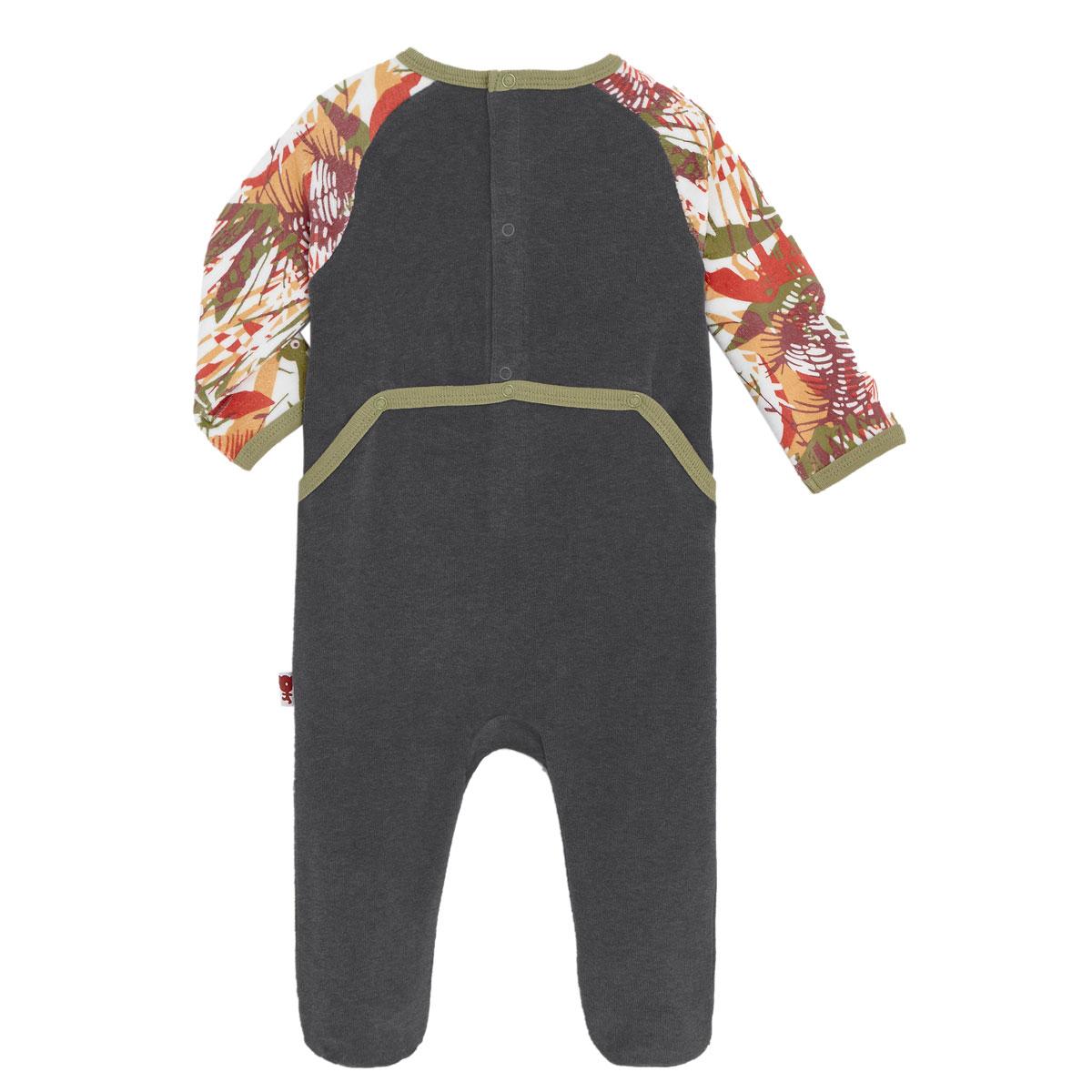 Pyjama bébé en velours contenant du coton bio Baby Jumpy dos