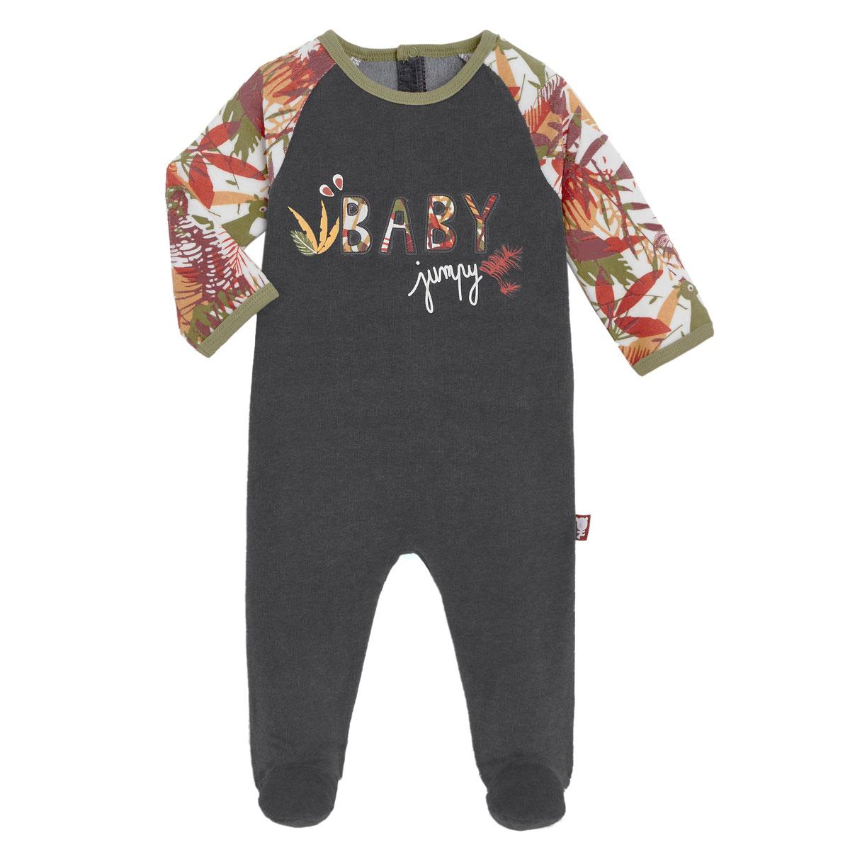 Pyjama bébé en velours contenant du coton bio Baby Jumpy