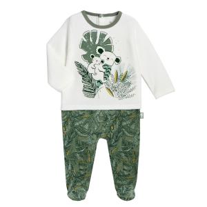 Pyjama bébé en velours Amazonie