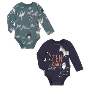 Lot de 2 bodies bébé garçon manches longues Baby Zen
