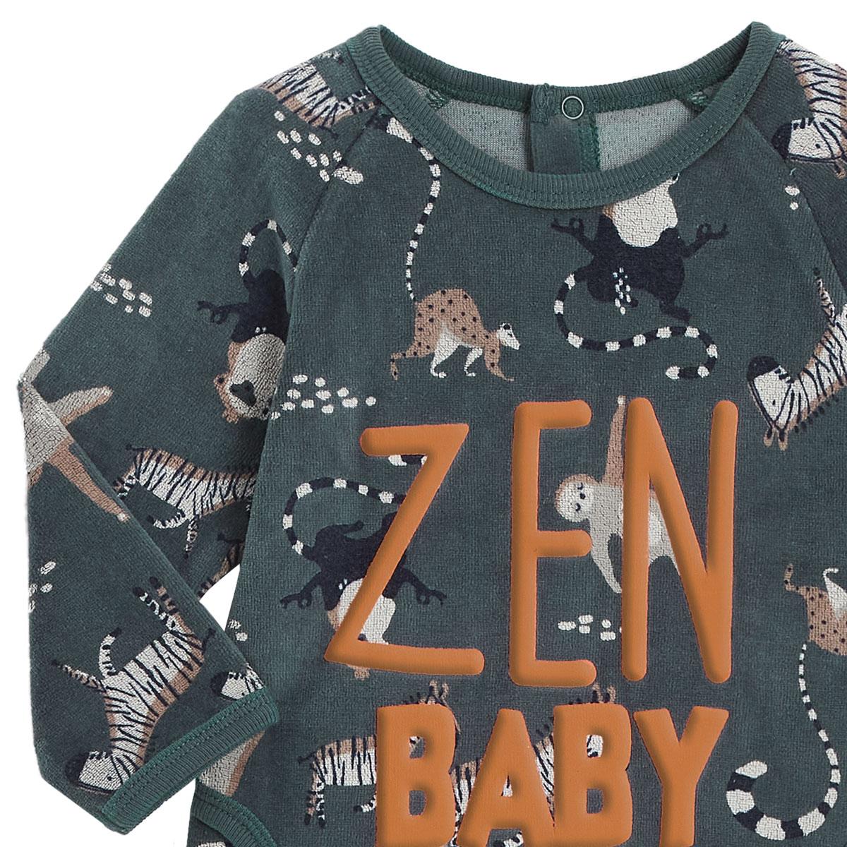 Pyjama bébé en velours Baby Zenvzoom