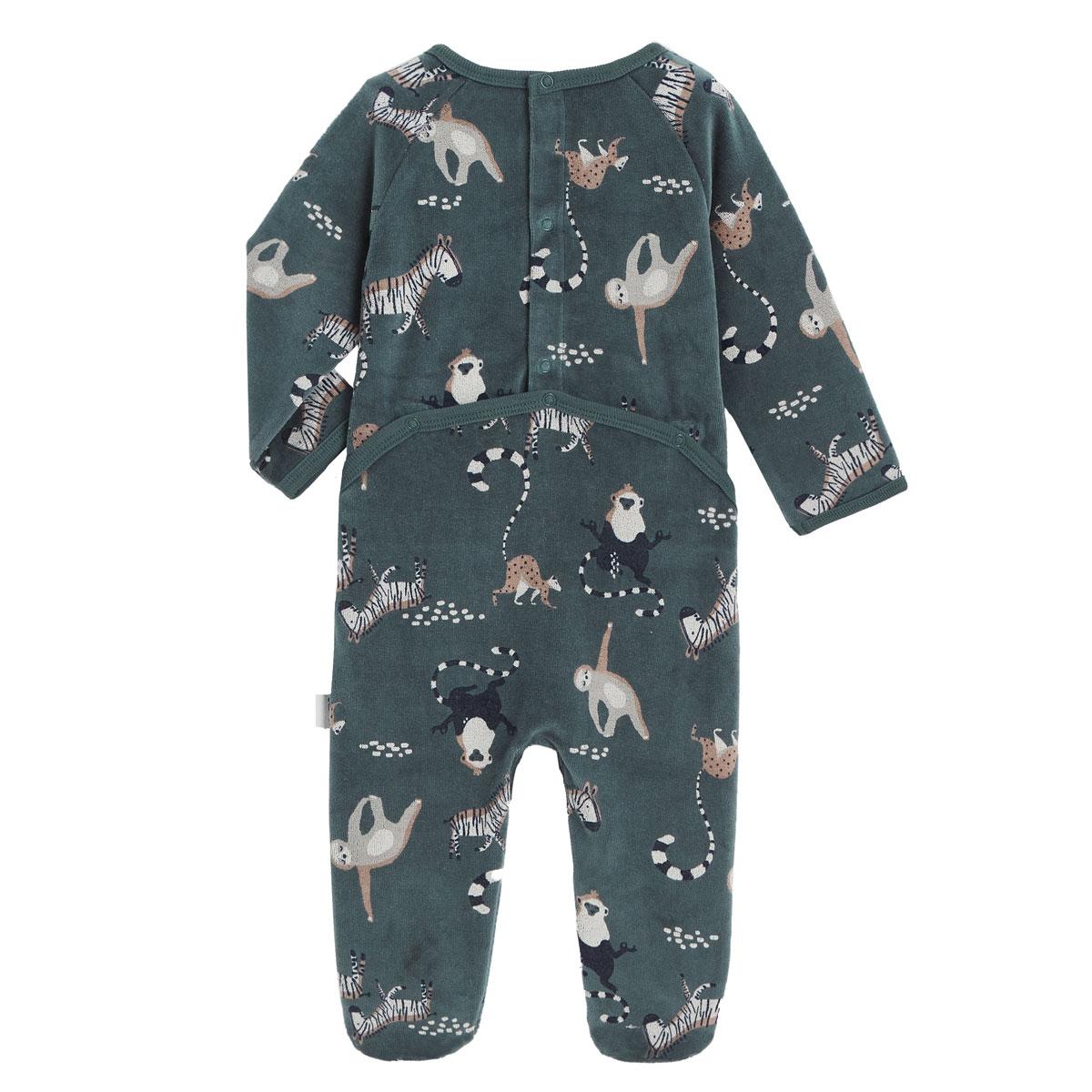 Pyjama bébé en velours Baby Zen dos