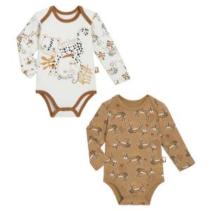 Lot de 2 bodies bébé garçon manches longues Benghali