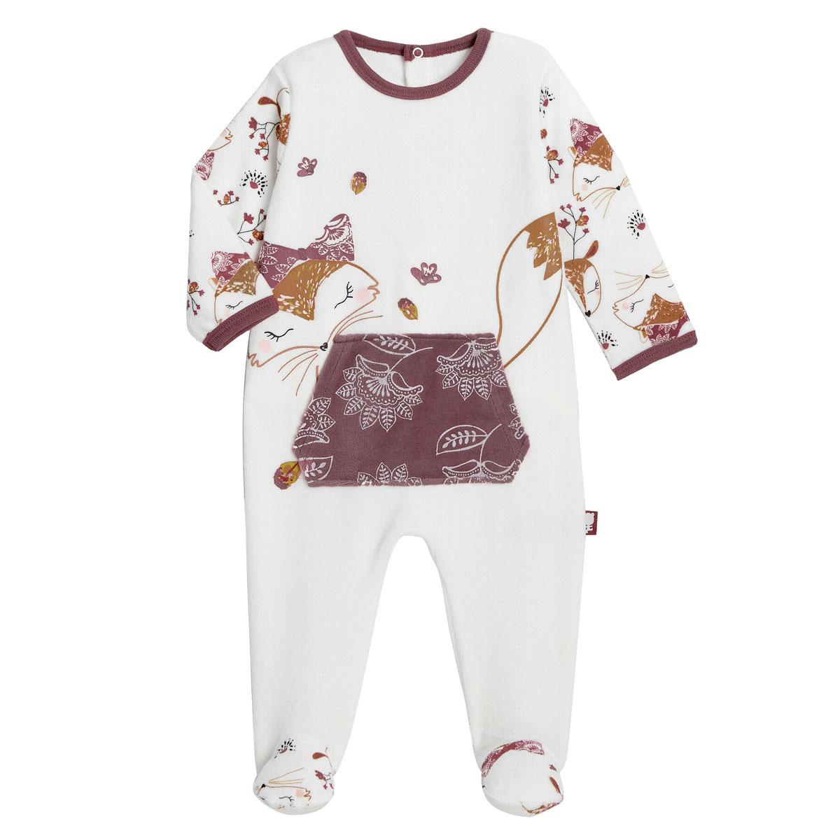 Pyjama bébé en velours Amaya
