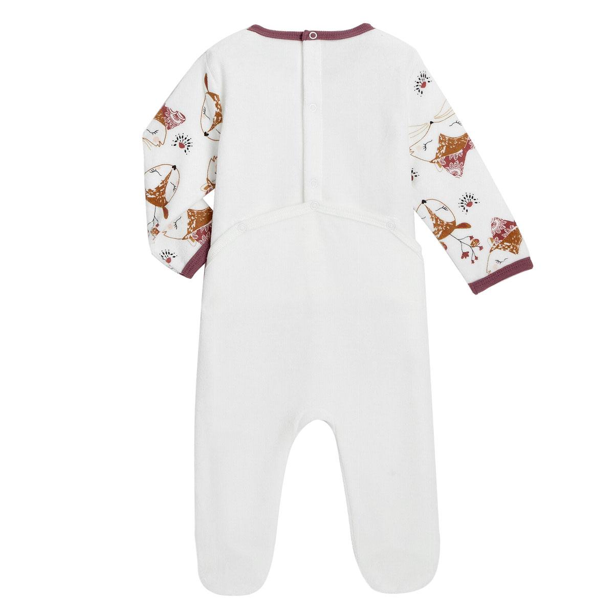 Pyjama bébé en velours Amaya dos