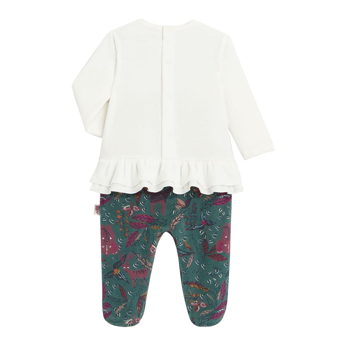 Pyjama bébé en velours Kapiri dos