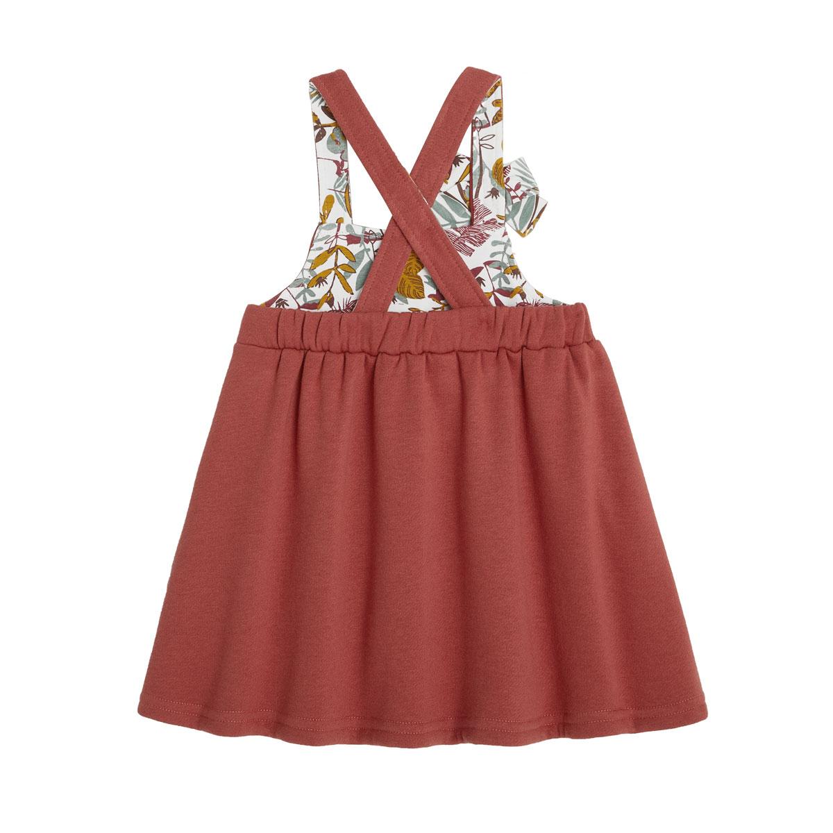 Robe en molleton et legging contenant du coton bio BonjourAmour dos