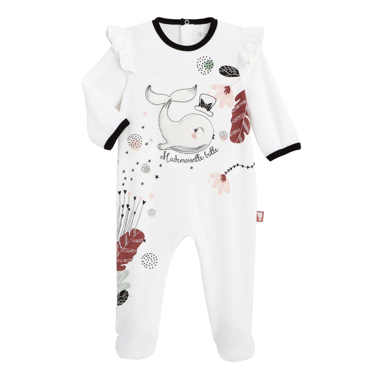 Pyjama bébé en velours Bulle
