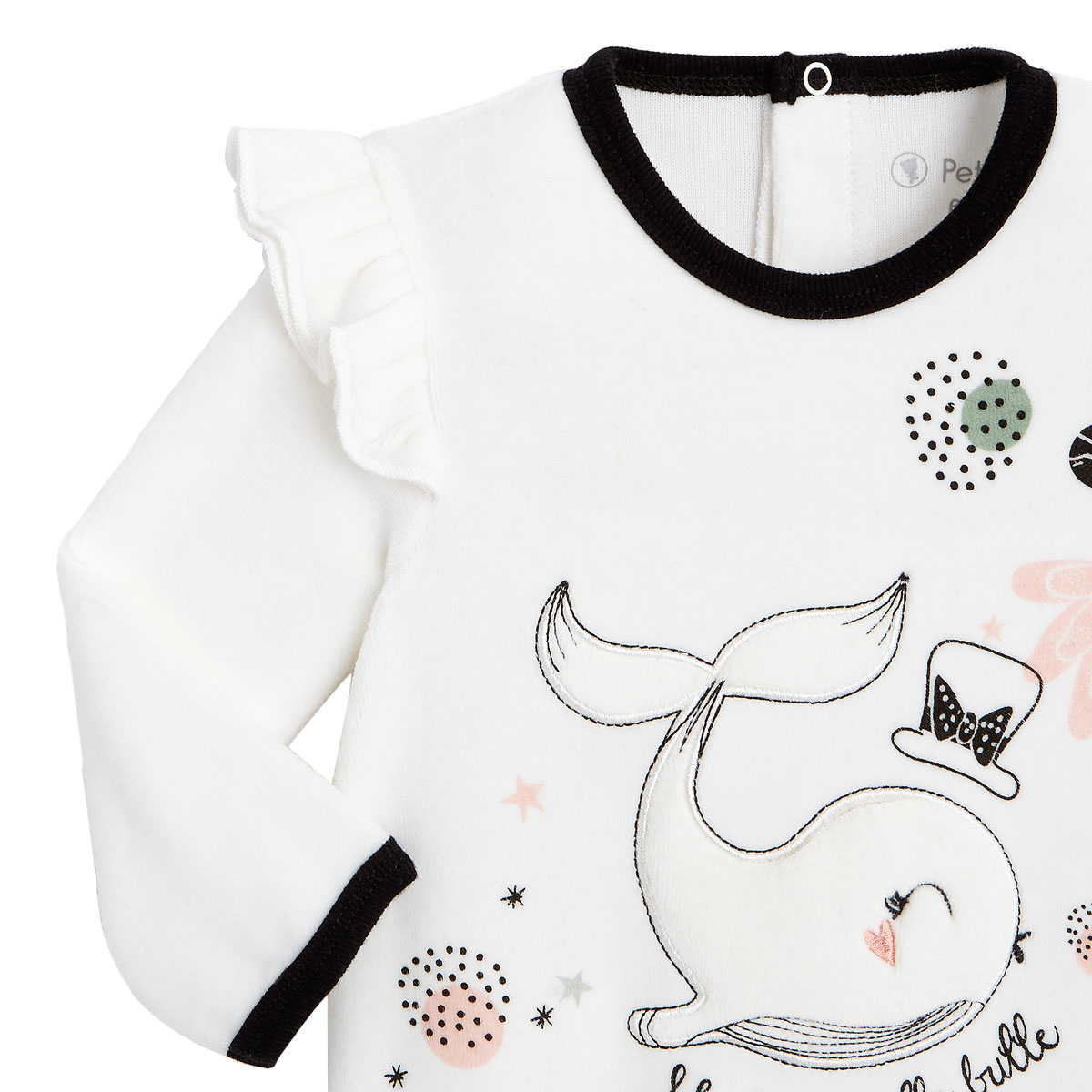 Pyjama bébé en velours Bulle zoom