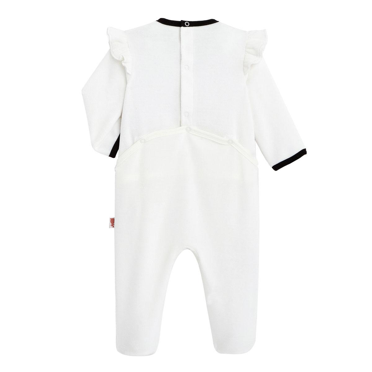 Pyjama bébé en velours Bulle dos