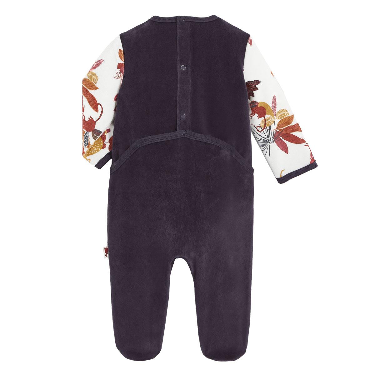 Pyjama bébé en velours Havana dos