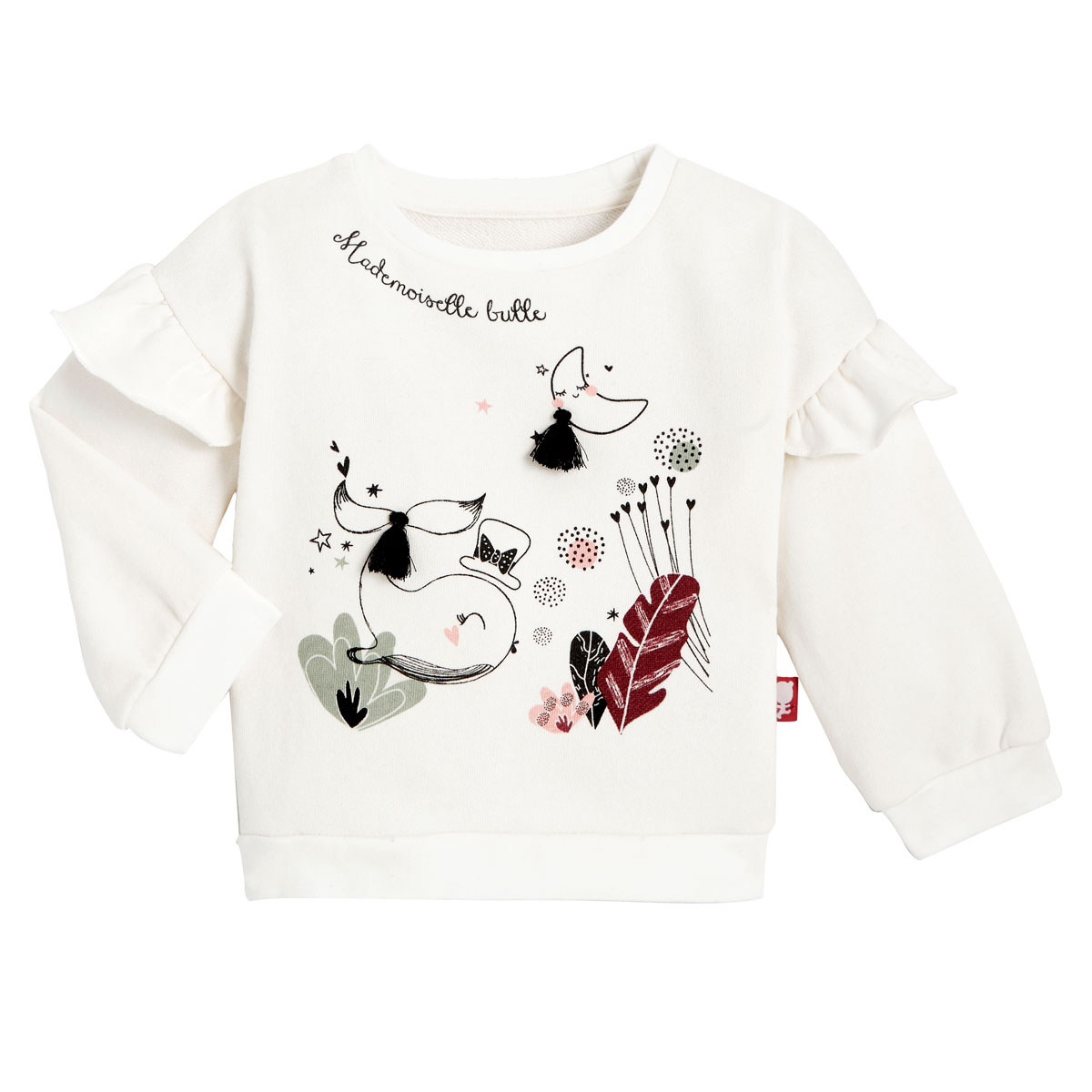 Sweat-shirt fille en coton gratté et legging Bulle haut