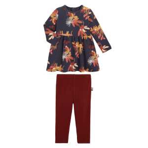 Robe fille en molleton et legging Havana