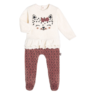 Pyjama bébé velours Léa