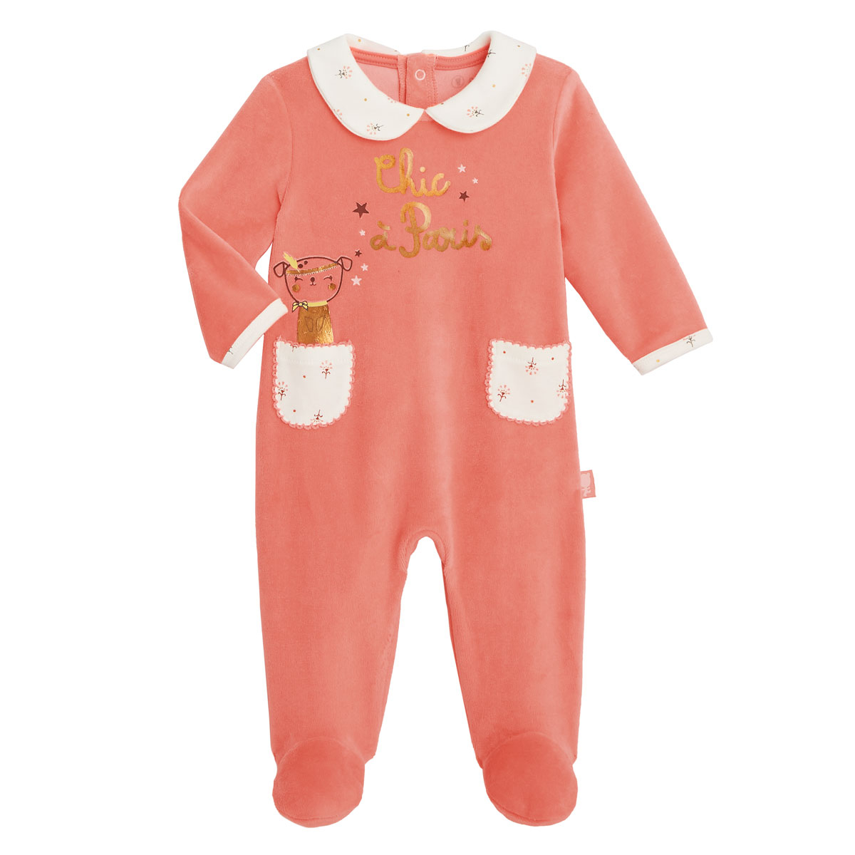 Pyjama bébé velours Chic à Paris