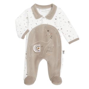 Pyjama bébé mixte en velours contenant du coton bio Love Me