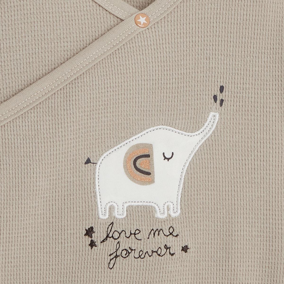Gilet bébé mixte en coton bio Love Me zoom