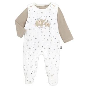 Salopette + T-shirt bébé mixte contenant du coton bio Love Me