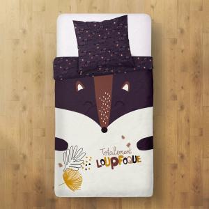 Housse de couette enfant + taie d'oreiller Loupfoque (140 x 200 cm)