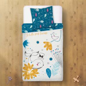 Housse de couette enfant + taie d'oreiller Bulle (140 x 200 cm)