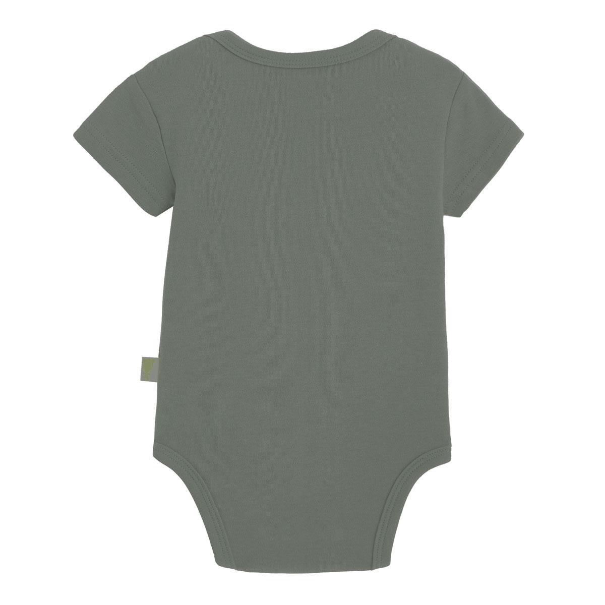 Lot de 2 bodies bébé garçon manches courtes Petit Safari kaki dos