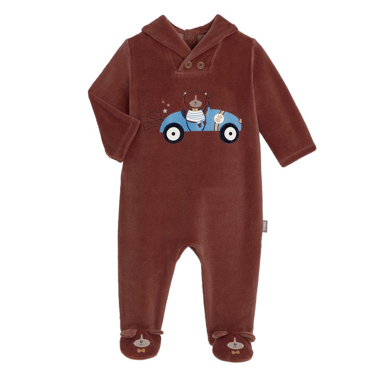 Pyjama bébé en velours Dandy Dog