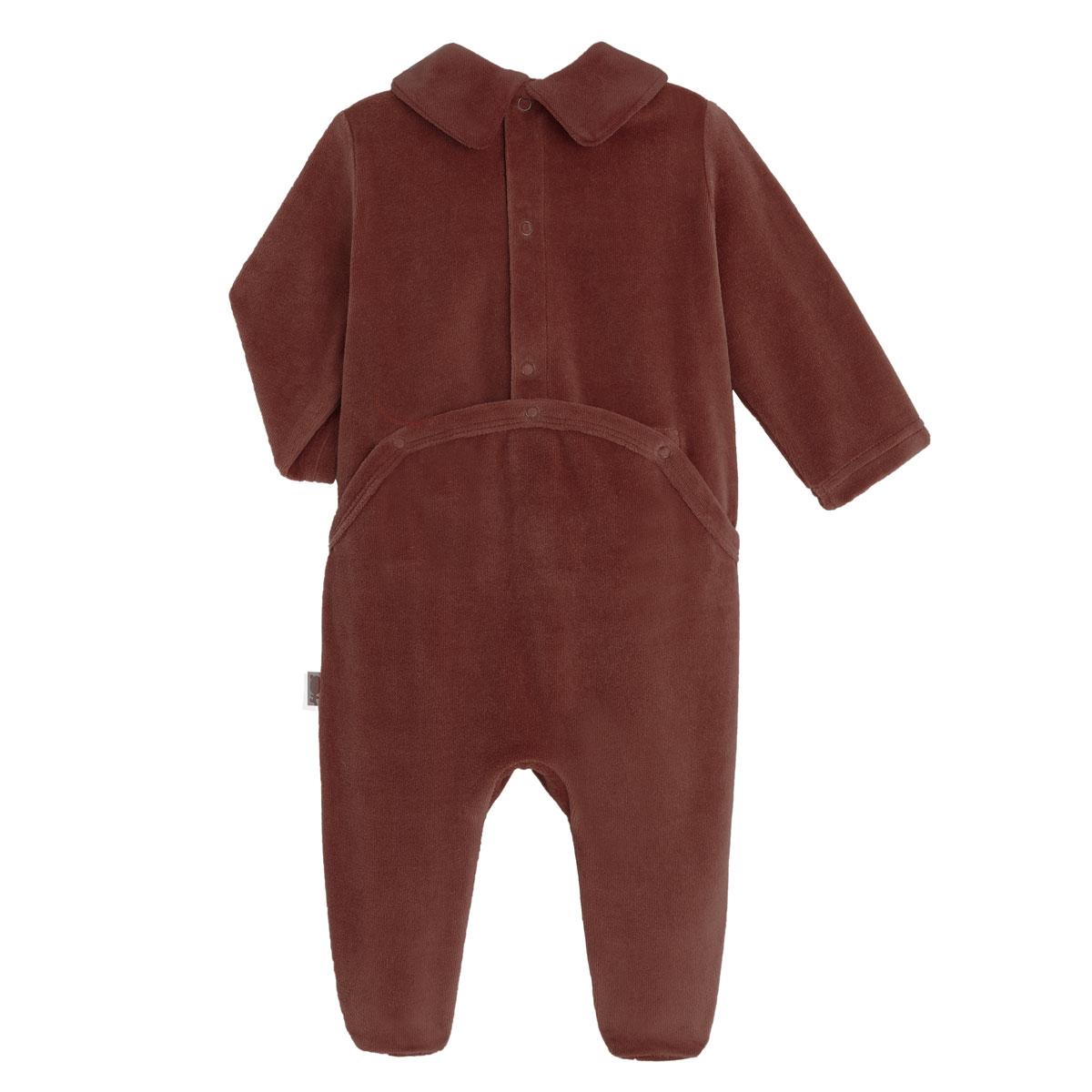 Pyjama bébé en velours Dandy Dog dos
