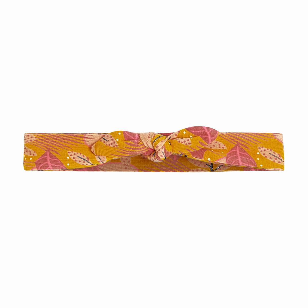 Robe fille en molleton, legging et bandeau contenant du coton bio Papaye bandeau