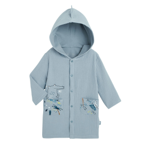 Robe de chambre doublée bébé garçon Croco Jungle