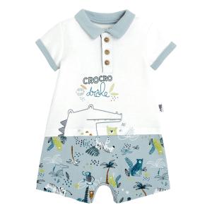 Combishort bébé garçon Croco Jungle