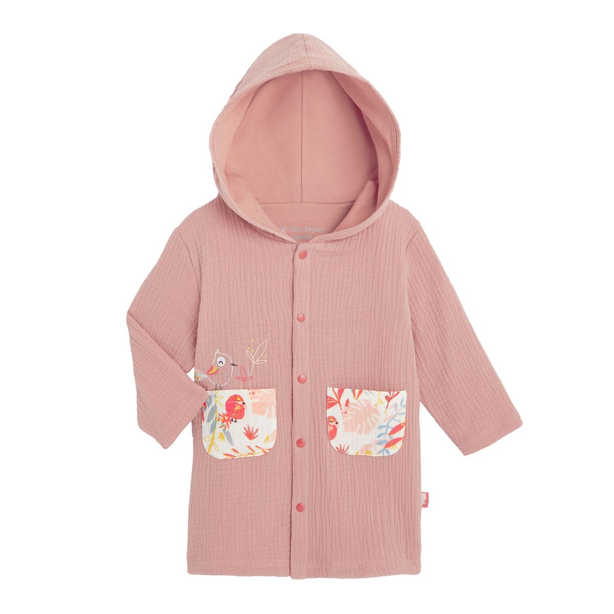 Robe de chambre doublée bébé fille Tropic
