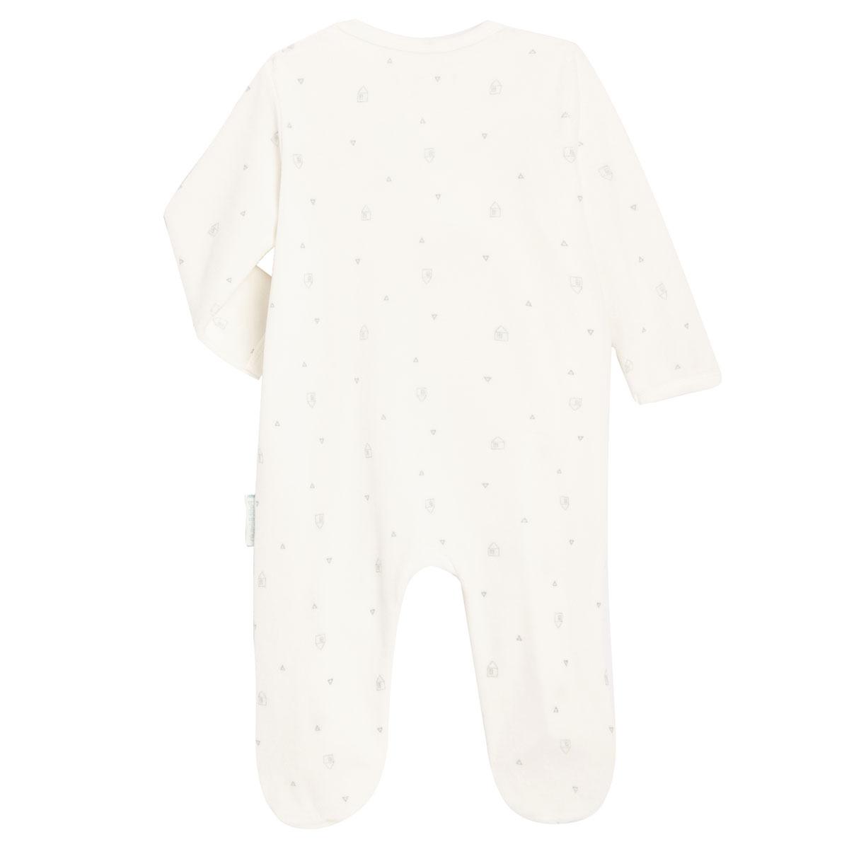 Pyjama bébé mixte en velours contenant du coton bio Bonheur du matin dos