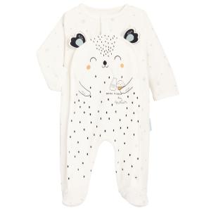 Pyjama bébé mixte en velours contenant du coton bio Bonheur du matin