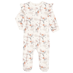 Pyjama bébé contenant du coton bio Exotic Bird